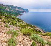 foto of crimea  - Rocky beach of Crimea - JPG
