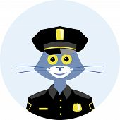 picture of policeman  - Cat in the suit of the policeman of the United States - JPG