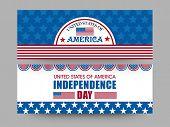 foto of nationalism  - National flag colors website header or banner set for American Independence Day celebration - JPG