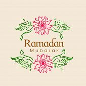 picture of ramazan mubarak card  - Islamic holy month of prayers - JPG