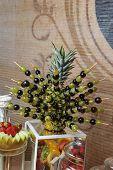 image of fruit  - Carved fruits arrangement - JPG
