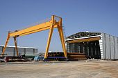 foto of shipbuilding  - Shipbuilding area creates a significant potential for employment is one of the branches of heavy industry - JPG