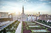 foto of art gothic  - Monts des Arts in Brussels - JPG