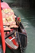 picture of gondola  - Typical chairs luxury in a gondola in Venice Italia - JPG