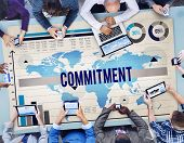 picture of promises  - Commitment Promise Conviction Devotion Pledge Concept - JPG