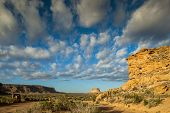 stock photo of butts  - Fajada Butte in Chaco Culture National Historical Park New Mexico USA - JPG