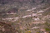 picture of canary  - Village in the mountain at Gran Canaria in the Spanish Canary Islands - JPG