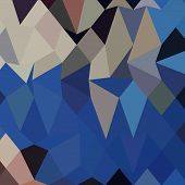 stock photo of bluebonnets  - Low polygon style illustration of bluebonnet abstract geometric background - JPG