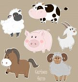 image of sheep  - Vector illustration of cows - JPG