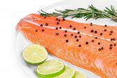 picture of salmon steak  - fresh salmon steak - JPG