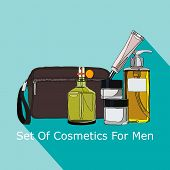 image of beard  - looking after a set of cosmetics for men  - JPG