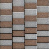 stock photo of oblique  - Colorful Paving Rectangles in the Form of Oblique Lines - JPG