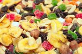 foto of dry fruit  - pile of dried fruit as part of the food - JPG
