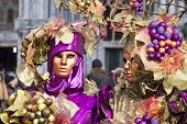 image of venice carnival  - Carnival of Venice beautiful masks at St. Mark