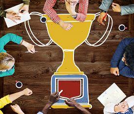 picture of trophy  - Motivation Trophy Success Winning Reward Prize Concept - JPG