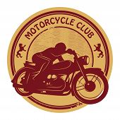 Постер, плакат: Vintage Motorcycle Label