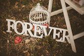 Постер, плакат: Forever Wooden Inscription For Wedding