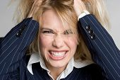 stock photo of frazzled  - Angry Frustrated Woman - JPG