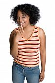picture of black curly hair  - Happy African American Girl - JPG