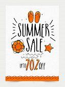 Summer Sale Banner, Sale Poster, Sale Flyer, Sale Vector. 70% Off, Sale Background. Big Sale, Super  poster