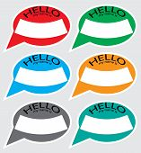 Постер, плакат: Hello My Name Is Sticker Badge Set Color