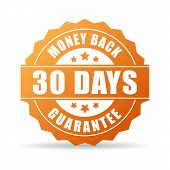 30 days money back guarantee icon poster
