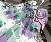 image of transpiration  - abstract floral grunge background - JPG