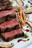 picture of gourmet food  - An image of gourmet Japanese seared beef - JPG