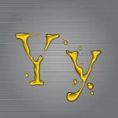 Постер, плакат: Вектор жидкости масла письмо