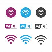 Wireless And Wifi Icons. Wireless Network Symbol Wifi Icon. Wire poster