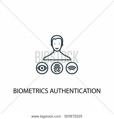 poster of Biometrics Authentication Concept Line Icon. Simple Element Illustration. Biometrics Authentication
