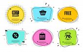 Free Symbol. Best Seller, Quote Text. Special Offer Sign. Sale. Quotation Bubble. Banner Badge, Text poster