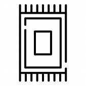 Egyptian Carpet Icon. Outline Egyptian Carpet Vector Icon For Web Design Isolated On White Backgroun poster