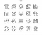 Agile Development Well-crafted Pixel Perfect Vector Thin Line Icons 30 2x Grid For Web Graphics And  poster