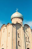 Veliky Novgorod, Russia. Saviour Church On Nereditsa - An Orthodox Church Built In 1198, One Of Russ poster