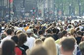 picture of crowd  - Lots of people walking on a street - JPG