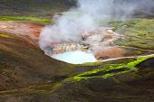 Boiling Lake On The Mountain Route In Landmannalaugar. Iceland poster