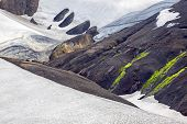 The A Colorful Mountain Landscape In Landmannalaugar, Iceland poster