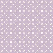 Vector Minimalist Floral Geometric Seamless Pattern. Subtle Lilac And Beige Texture With Small Cross poster