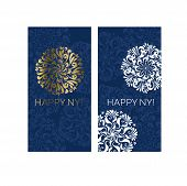 Glamour White And Gold Classic Snowflake Card. Christmas Vector Illustration For Cards, Invitation,  poster
