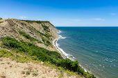 Natural Landscape. The Rocky Coast Of Cape Emine. The Bulgarian Black Sea Coast. poster