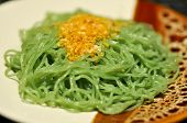 Plain Noodles, Egg Noodles Or Chinese Noodle With Fried Garlic poster