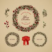 Vintage Christmas Wreath Collection 4 poster