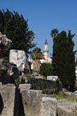 foto of illuminati  - old greece architecture from Kos Island and blue sky - JPG