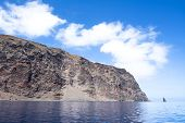 picture of guadalupe  - Rugged Guadalupe Island in Mexico where divers go to see great white sharks - JPG