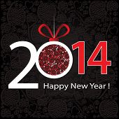 2014 Happy New Year greeting card or background.