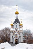 stock photo of ekaterinburg  - Chapel in the name saint great martyr Catherine - JPG