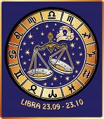 stock photo of libra  - Libra zodiac sign - JPG