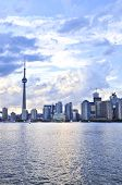 stock photo of urbanisation  - Toronto city waterfront skyline in late afternoon - JPG