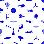aeronautical icons pattern eps10